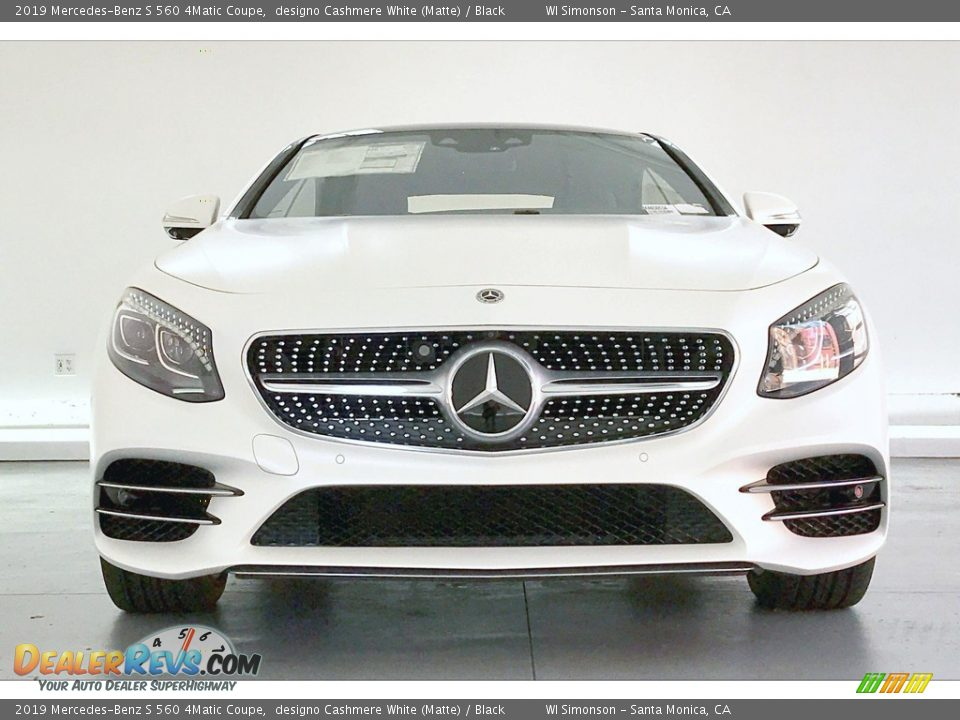 2019 Mercedes-Benz S 560 4Matic Coupe designo Cashmere White (Matte) / Black Photo #2