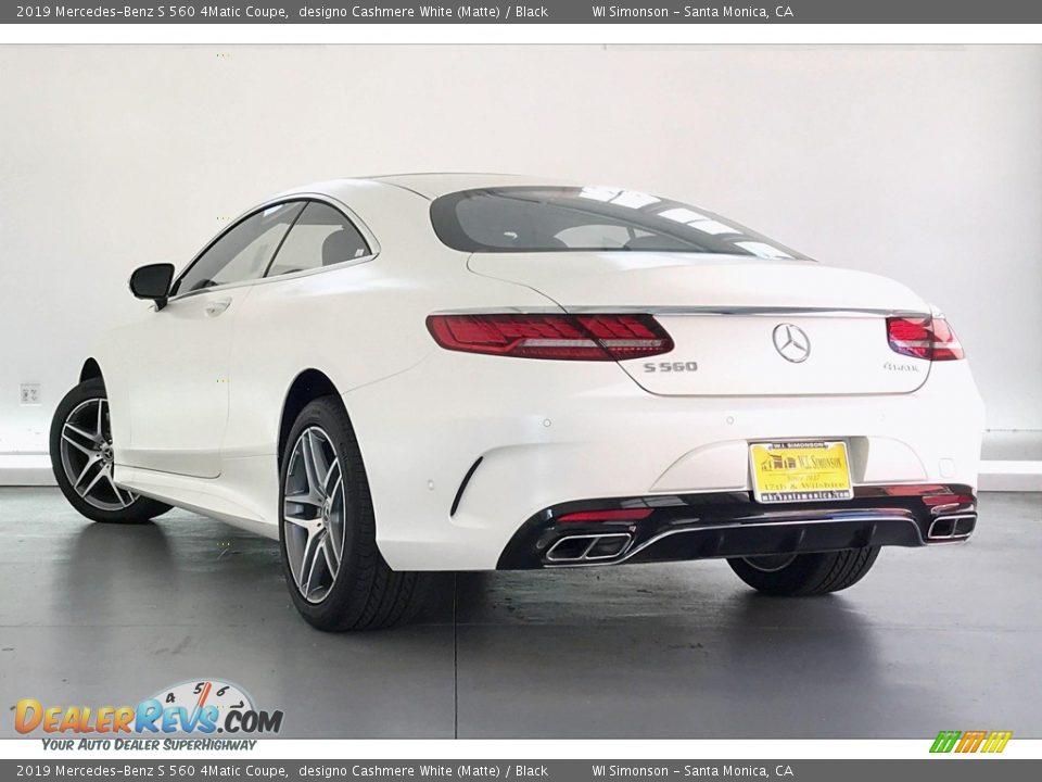 2019 Mercedes-Benz S 560 4Matic Coupe designo Cashmere White (Matte) / Black Photo #10