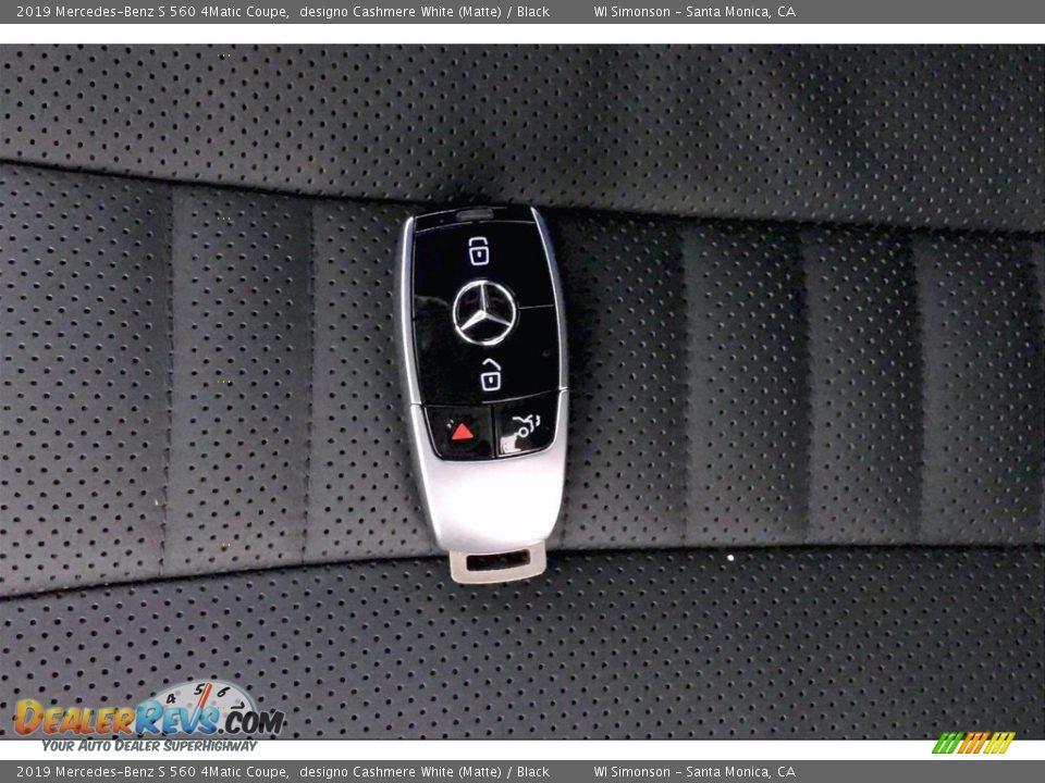 2019 Mercedes-Benz S 560 4Matic Coupe designo Cashmere White (Matte) / Black Photo #11