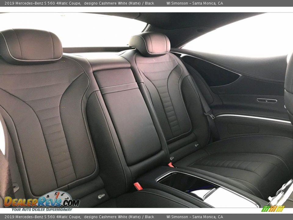 2019 Mercedes-Benz S 560 4Matic Coupe designo Cashmere White (Matte) / Black Photo #13