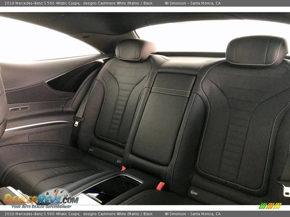 Rear Seat of 2019 Mercedes-Benz S 560 4Matic Coupe Photo #15