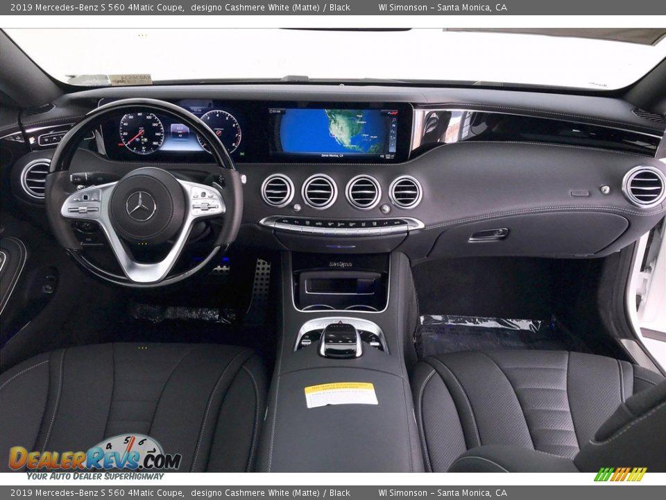 Black Interior - 2019 Mercedes-Benz S 560 4Matic Coupe Photo #17