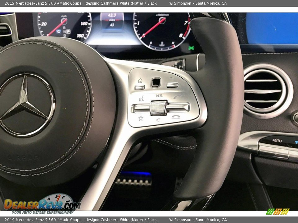 2019 Mercedes-Benz S 560 4Matic Coupe Steering Wheel Photo #19
