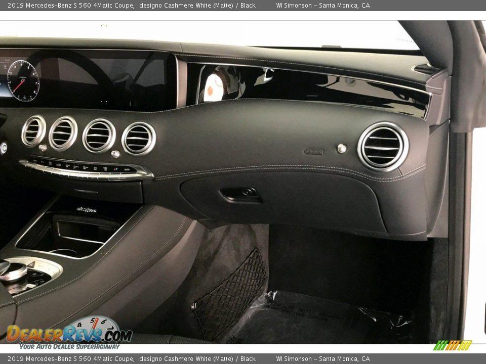 2019 Mercedes-Benz S 560 4Matic Coupe designo Cashmere White (Matte) / Black Photo #28