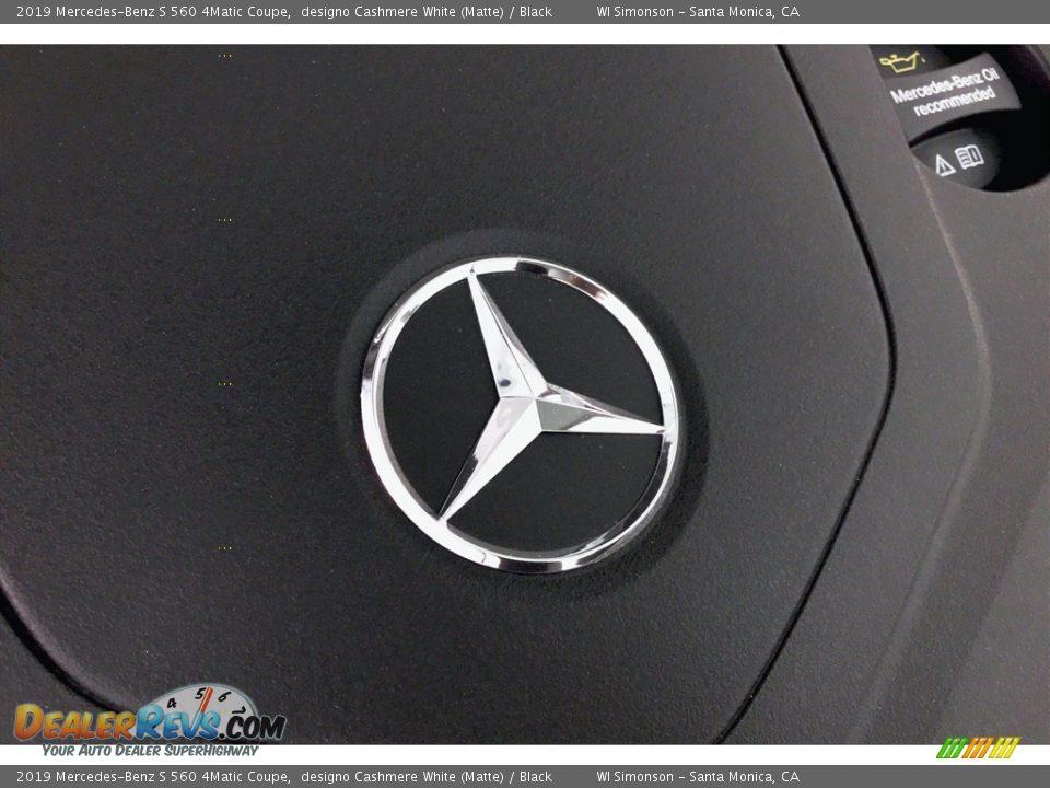 2019 Mercedes-Benz S 560 4Matic Coupe designo Cashmere White (Matte) / Black Photo #31
