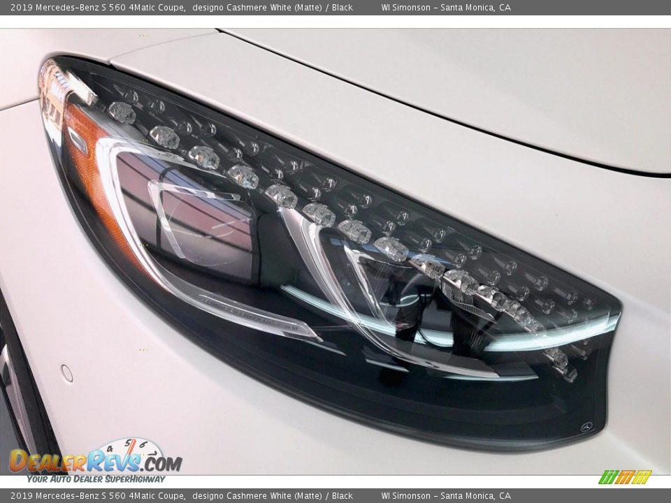 2019 Mercedes-Benz S 560 4Matic Coupe designo Cashmere White (Matte) / Black Photo #32
