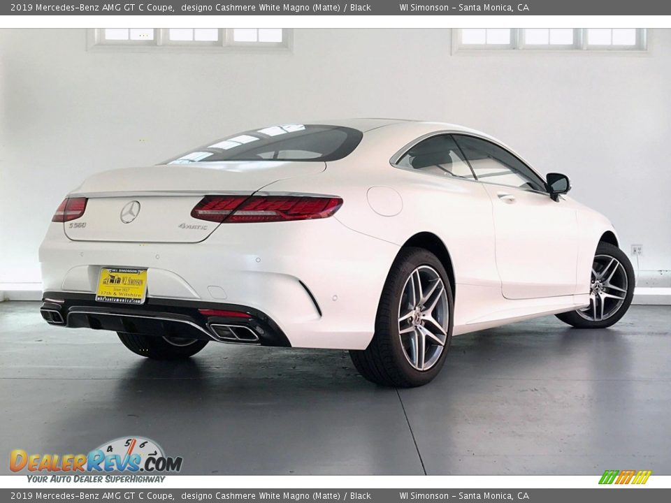 2019 Mercedes-Benz AMG GT C Coupe designo Cashmere White Magno (Matte) / Black Photo #16