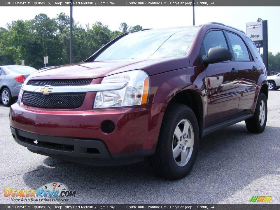 2008 chevrolet equinox ls deep ruby red metallic light gray photo 4. Cars Review. Best American Auto & Cars Review