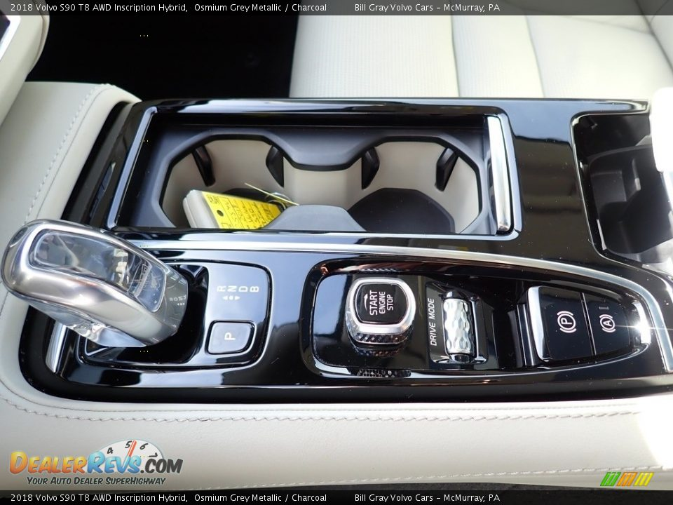 2018 Volvo S90 T8 AWD Inscription Hybrid Osmium Grey Metallic / Charcoal Photo #20