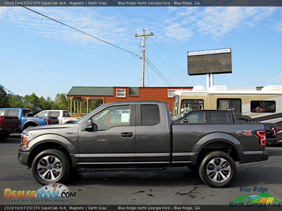2019 Ford F150 STX SuperCab 4x4 Magnetic / Earth Gray Photo #2