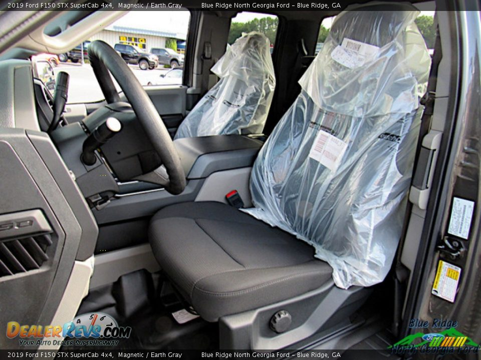 2019 Ford F150 STX SuperCab 4x4 Magnetic / Earth Gray Photo #10