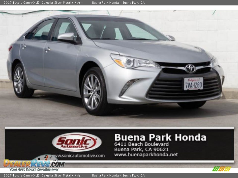 2017 Toyota Camry XLE Celestial Silver Metallic / Ash Photo #1