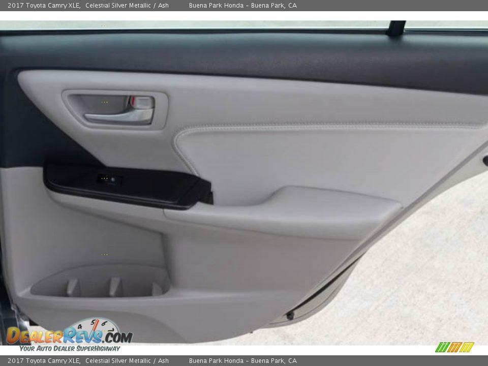 2017 Toyota Camry XLE Celestial Silver Metallic / Ash Photo #30