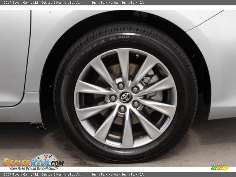 2017 Toyota Camry XLE Celestial Silver Metallic / Ash Photo #34