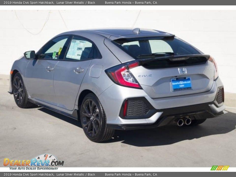 2019 Honda Civic Sport Hatchback Lunar Silver Metallic / Black Photo #2