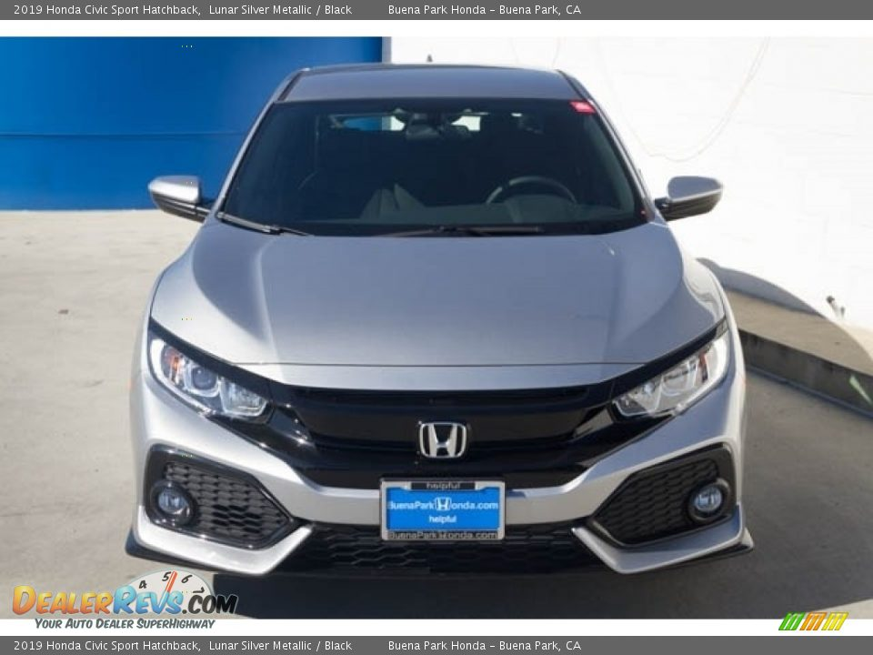 2019 Honda Civic Sport Hatchback Lunar Silver Metallic / Black Photo #3