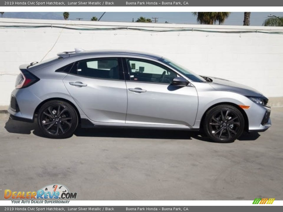 2019 Honda Civic Sport Hatchback Lunar Silver Metallic / Black Photo #5