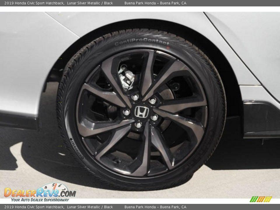 2019 Honda Civic Sport Hatchback Lunar Silver Metallic / Black Photo #13