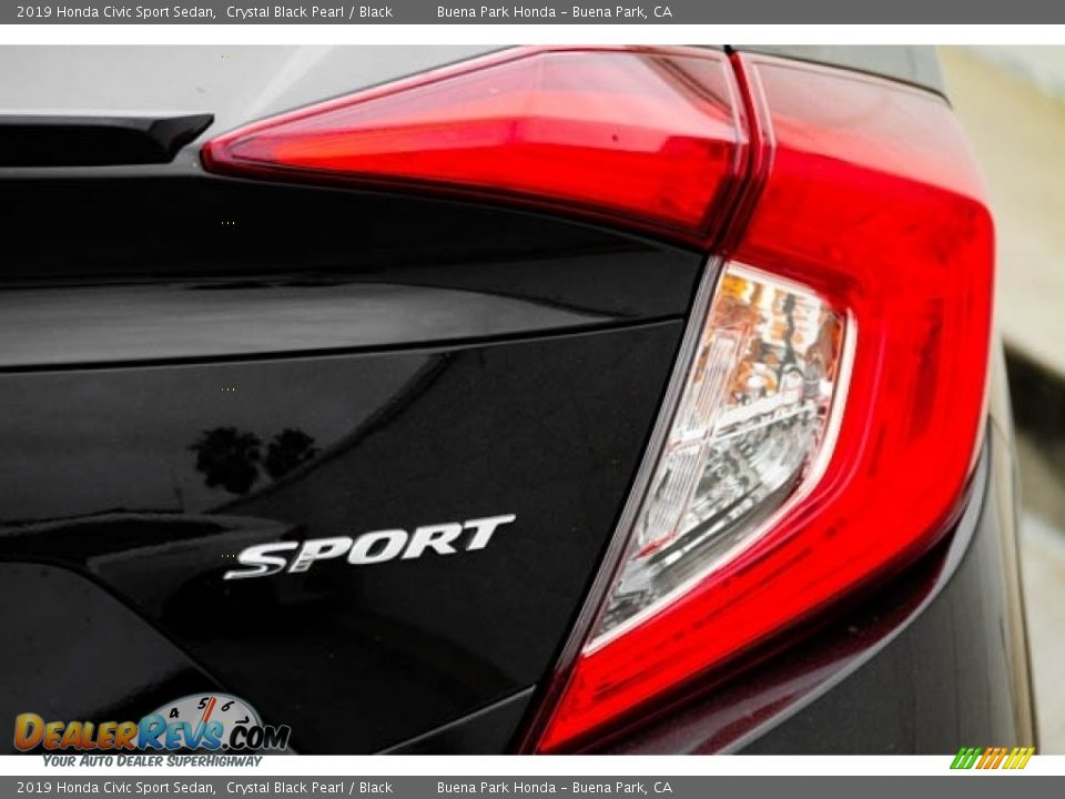 2019 Honda Civic Sport Sedan Crystal Black Pearl / Black Photo #8