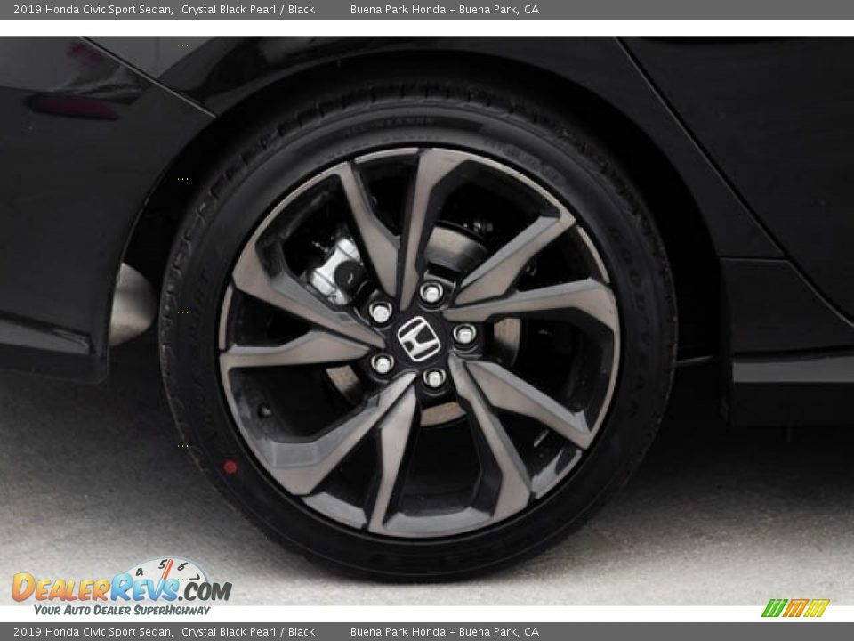 2019 Honda Civic Sport Sedan Crystal Black Pearl / Black Photo #11