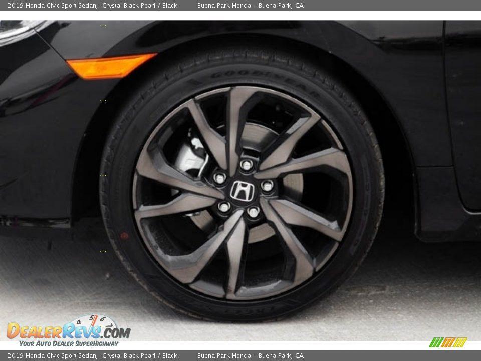 2019 Honda Civic Sport Sedan Crystal Black Pearl / Black Photo #13