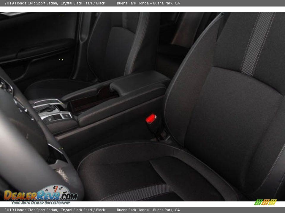 2019 Honda Civic Sport Sedan Crystal Black Pearl / Black Photo #25