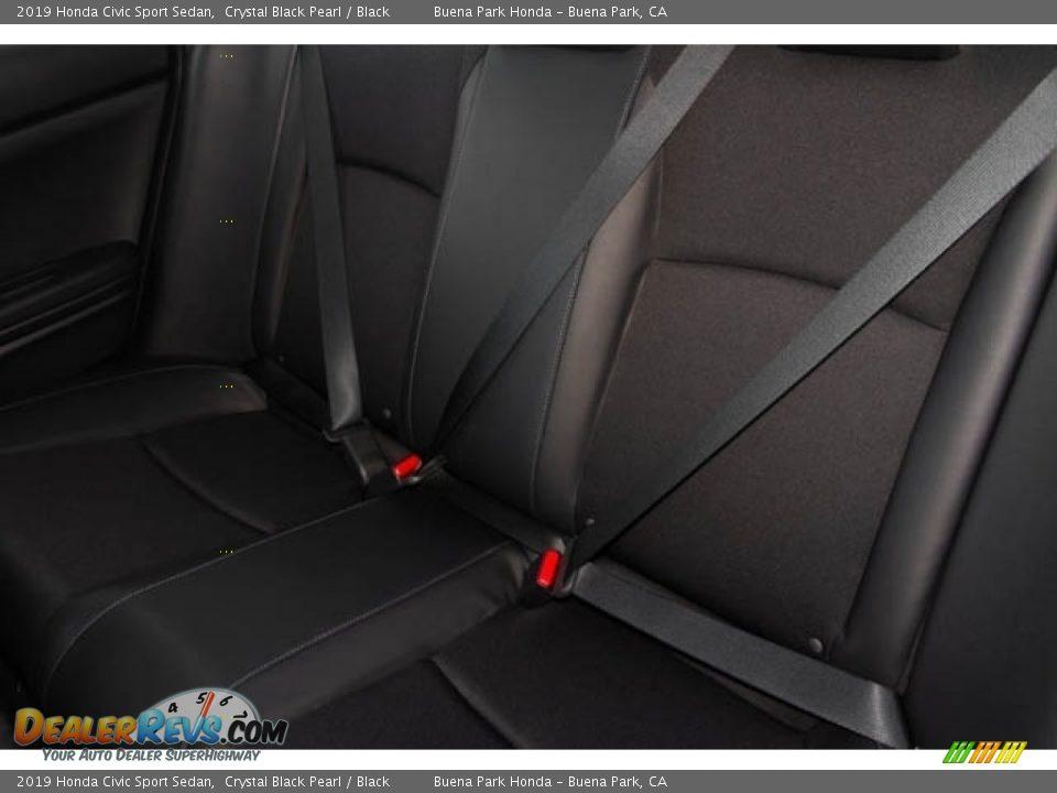 2019 Honda Civic Sport Sedan Crystal Black Pearl / Black Photo #26