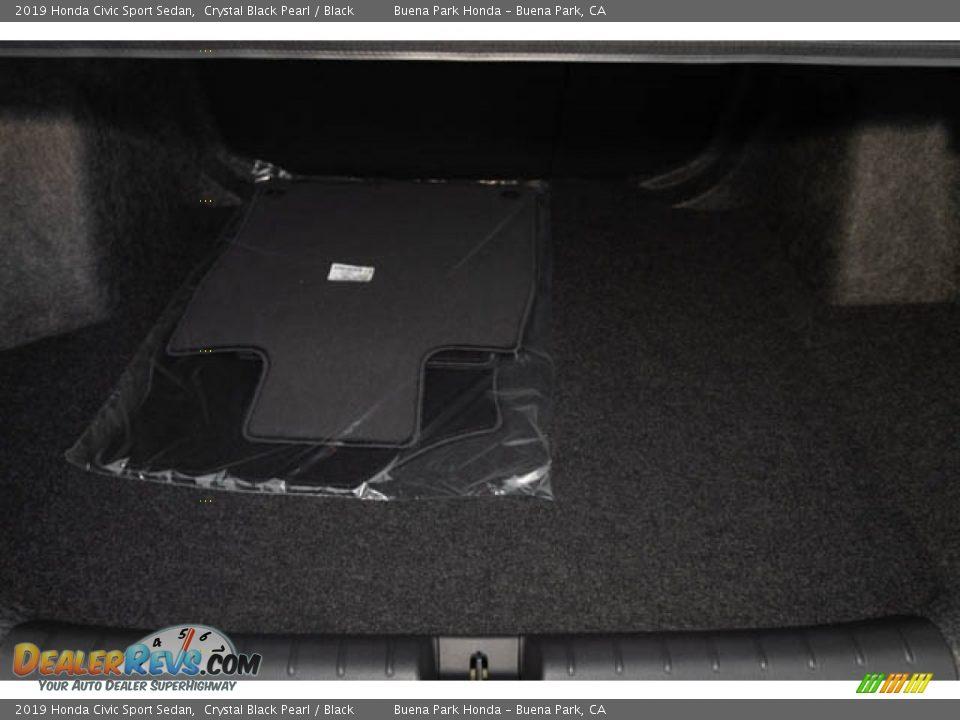 2019 Honda Civic Sport Sedan Crystal Black Pearl / Black Photo #27