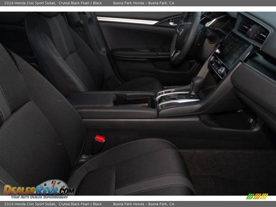 2019 Honda Civic Sport Sedan Crystal Black Pearl / Black Photo #30