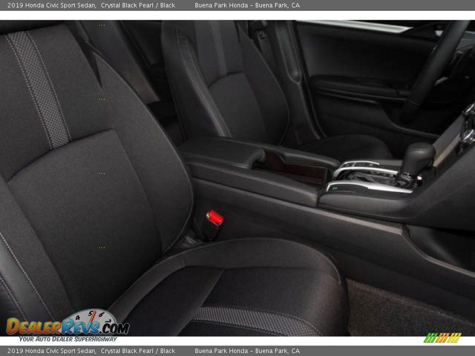 2019 Honda Civic Sport Sedan Crystal Black Pearl / Black Photo #31