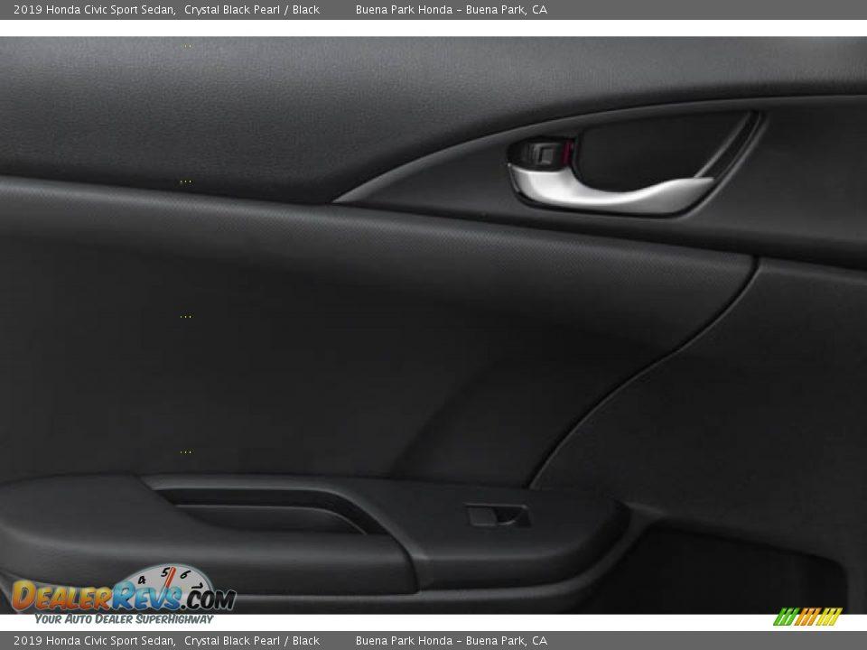 2019 Honda Civic Sport Sedan Crystal Black Pearl / Black Photo #35