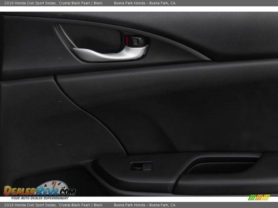 2019 Honda Civic Sport Sedan Crystal Black Pearl / Black Photo #36