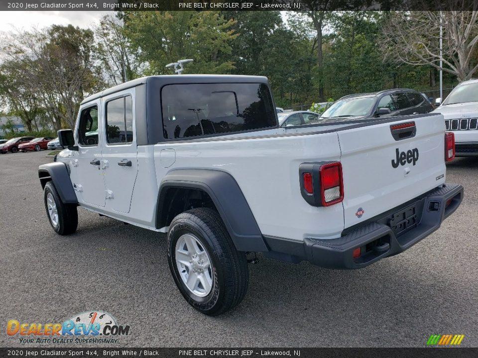 2020 Jeep Gladiator Sport 4x4 Bright White / Black Photo #4