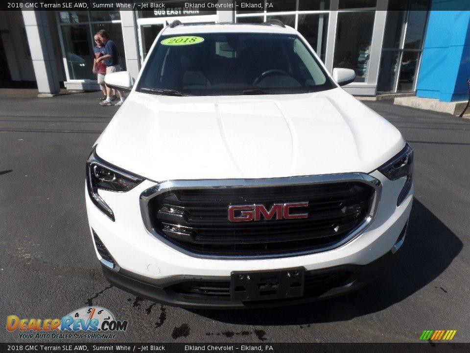 2018 GMC Terrain SLE AWD Summit White / Jet Black Photo #2