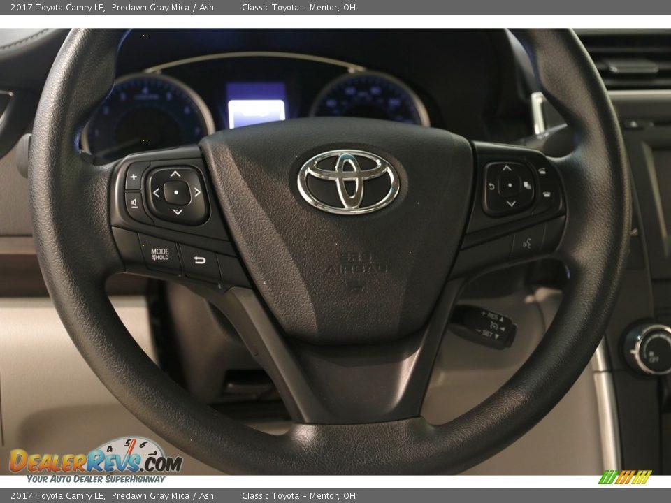 2017 Toyota Camry LE Predawn Gray Mica / Ash Photo #6
