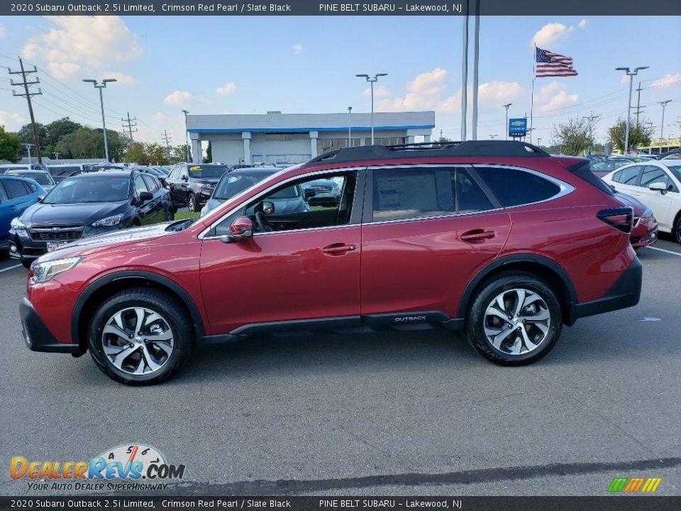 2020 Subaru Outback 2.5i Limited Crimson Red Pearl / Slate Black Photo #3