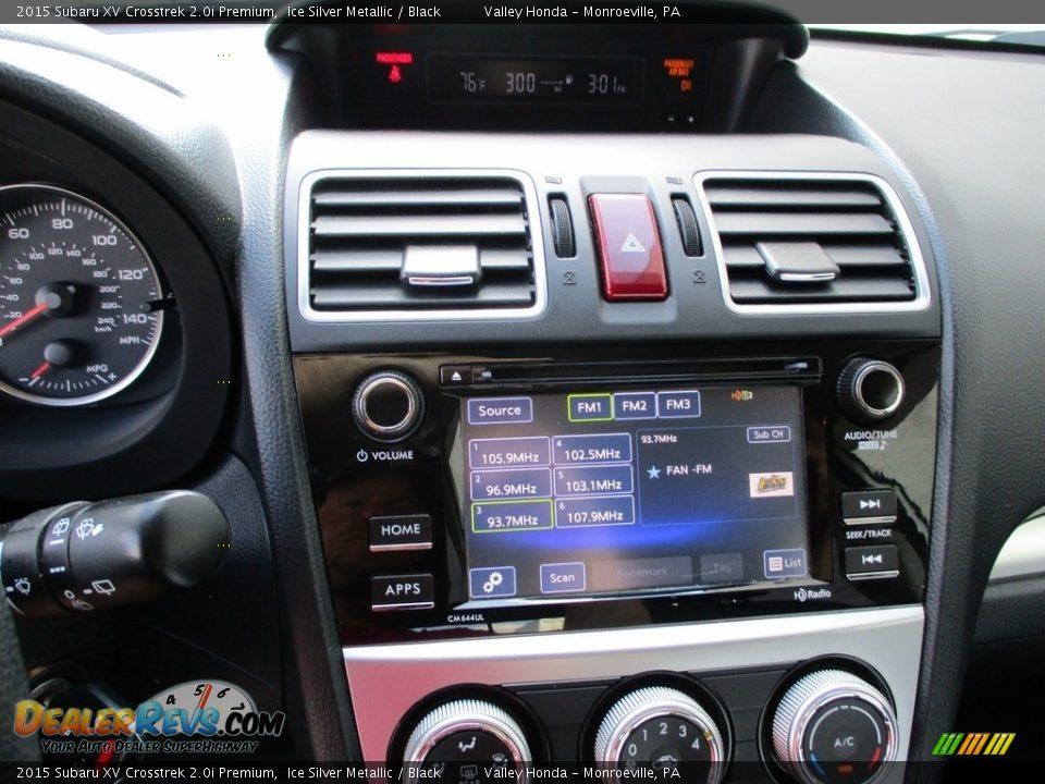 2015 Subaru XV Crosstrek 2.0i Premium Ice Silver Metallic / Black Photo #16