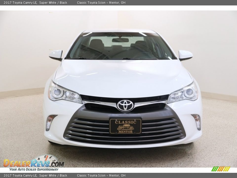 2017 Toyota Camry LE Super White / Black Photo #2