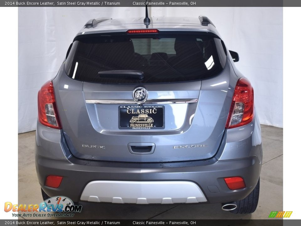 2014 Buick Encore Leather Satin Steel Gray Metallic / Titanium Photo #3