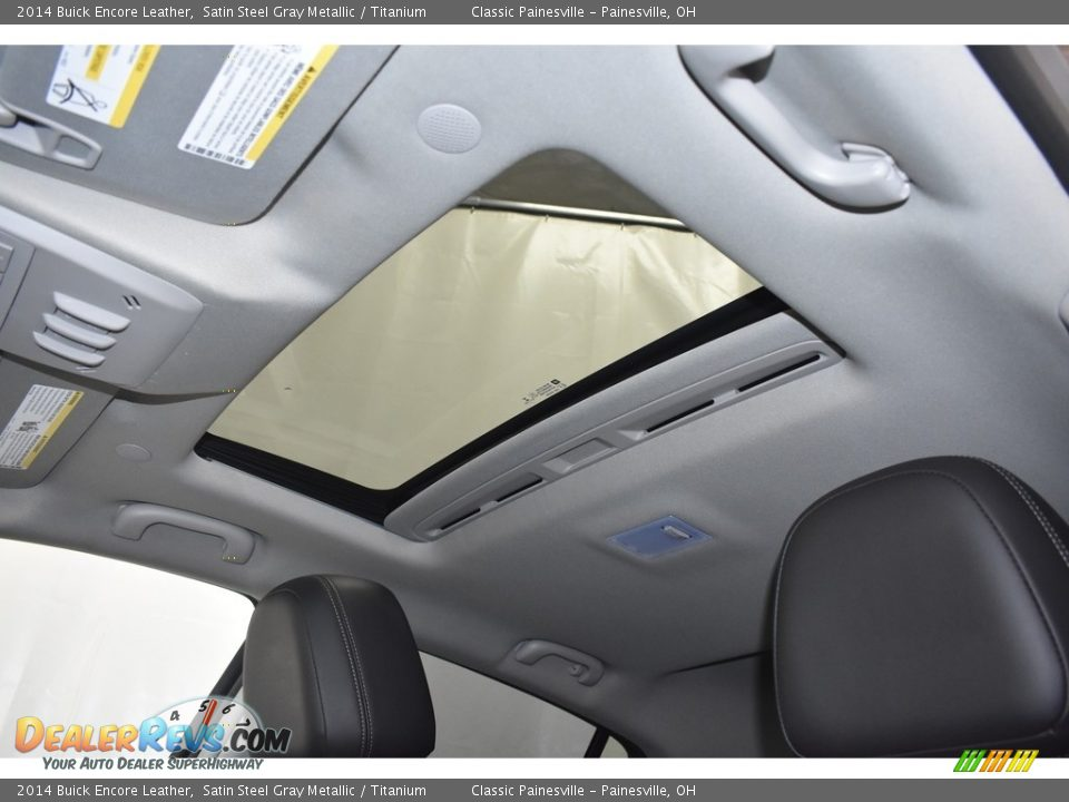 2014 Buick Encore Leather Satin Steel Gray Metallic / Titanium Photo #7