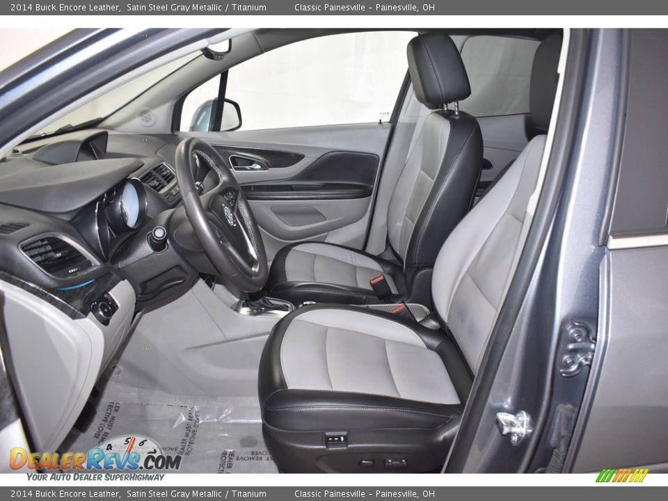 2014 Buick Encore Leather Satin Steel Gray Metallic / Titanium Photo #8
