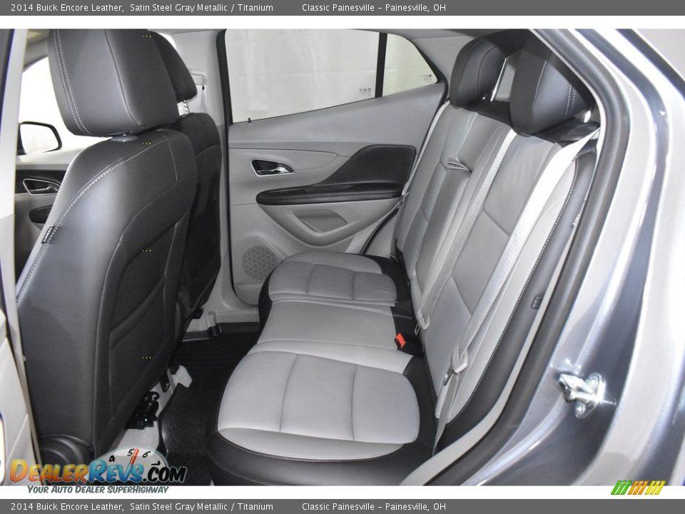 2014 Buick Encore Leather Satin Steel Gray Metallic / Titanium Photo #9