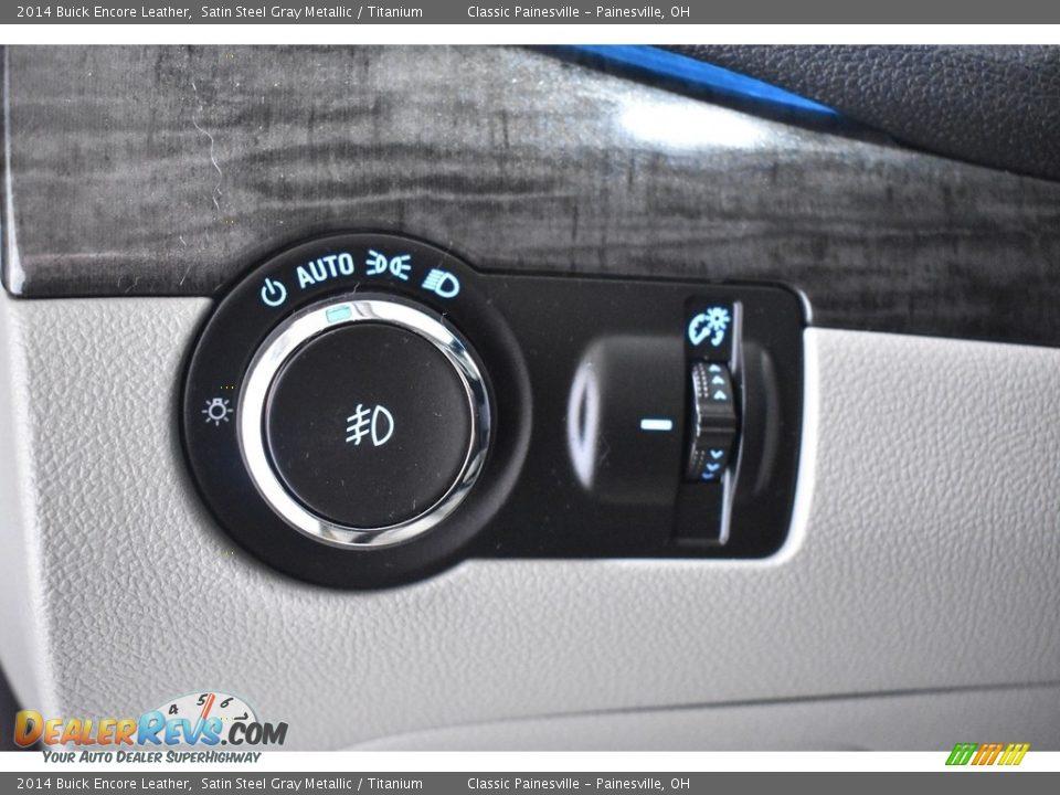 2014 Buick Encore Leather Satin Steel Gray Metallic / Titanium Photo #12