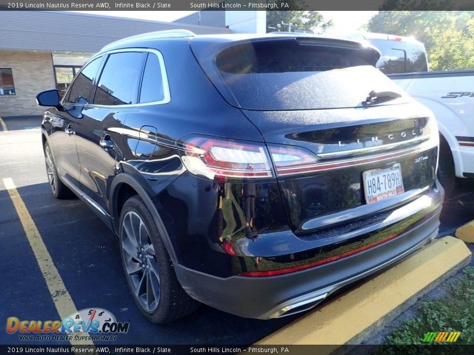2019 Lincoln Nautilus Reserve AWD Infinite Black / Slate Photo #2