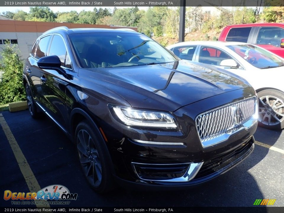 2019 Lincoln Nautilus Reserve AWD Infinite Black / Slate Photo #4