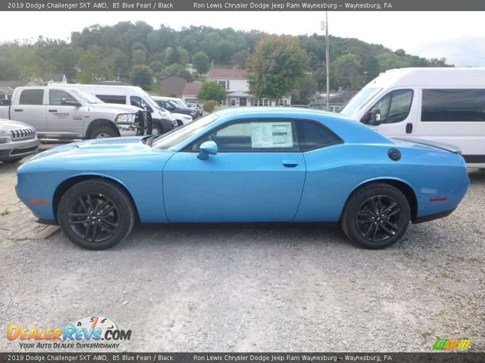 2019 Dodge Challenger SXT AWD B5 Blue Pearl / Black Photo #3