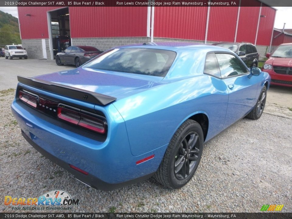 2019 Dodge Challenger SXT AWD B5 Blue Pearl / Black Photo #6