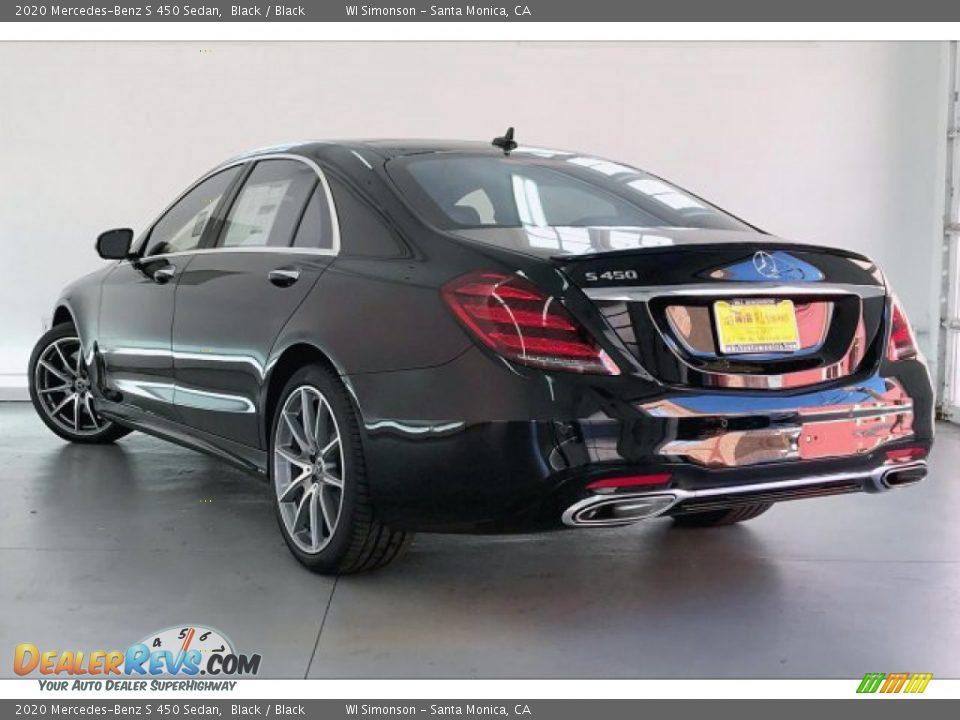 2020 Mercedes-Benz S 450 Sedan Black / Black Photo #2