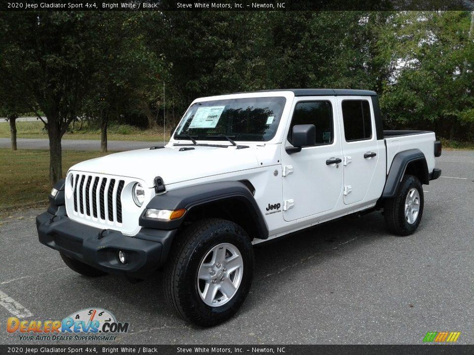2020 Jeep Gladiator Sport 4x4 Bright White / Black Photo #2
