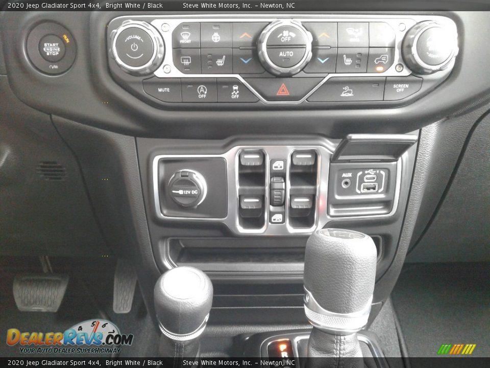 2020 Jeep Gladiator Sport 4x4 Bright White / Black Photo #25
